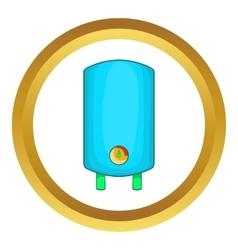 Boiler water heater icon vector