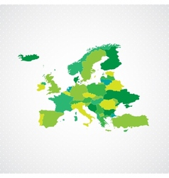Green Europe Map Background vector image