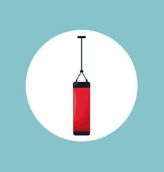 punching bag sport equipment vector image