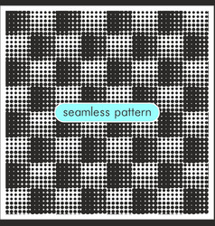 seamless patterns with halftone dots 7 vector image