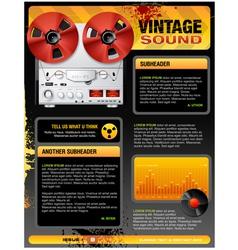 Vintage Stereo Shop vector image vector image