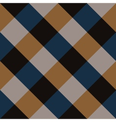 Blue Brown Chess Board Diamond Background vector image