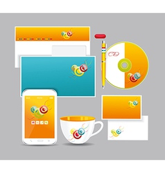 Corporate identity kit vector image vector image