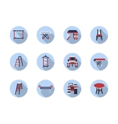 Home care flat round icons vector image vector image