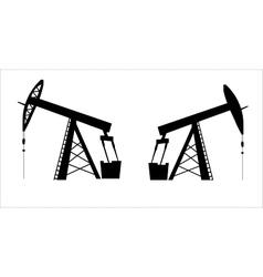 oil pump jack silhouette vector image