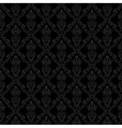 Seamless Damask Wallpaper 1 Gray Color vector image