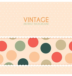 Vintage Background with Polka Dots Pattern vector image