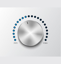 Volume controler with glowing dial 2 vector
