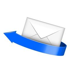 envelope with blue arrow vector image vector image