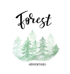 forest lettering vector image vector image