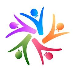 teamwork social logo vector image vector image
