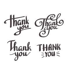 a set style thank you design elements lettering vector image