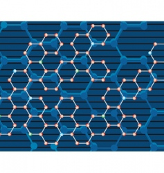 abstract background of the molecules vector image