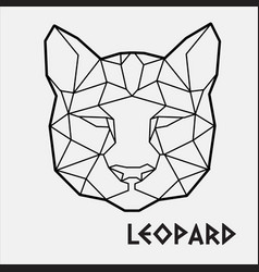 abstract polygonal geometric head a leopard vector image