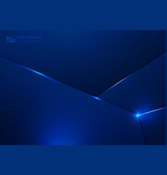 Abstract technology gradient dark blue design vector