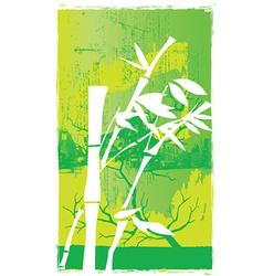 Bamboo design vector image