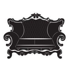 Baroque sofa furniture with ornaments vector
