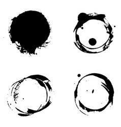 black abstract dirt ink strokes vector image