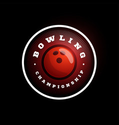 Bowling circular logo modern professional vector