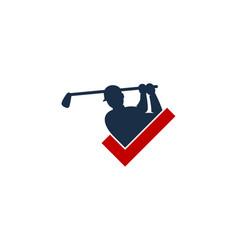 check golf logo icon design vector image
