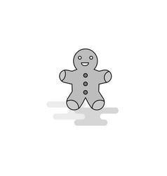 Christmas cookie web icon flat line filled gray vector