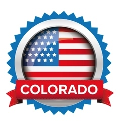 Colorado and usa flag badge vector
