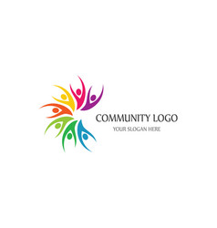 Community logo template vector