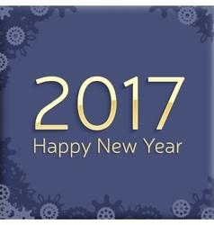 Digital happy new year 2017 text design vector