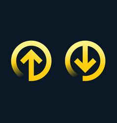 download upload symbols with arrow vector image