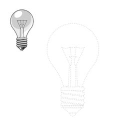 Draw lightbulb vector