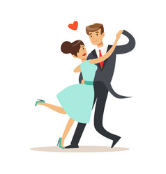 elegant couple in love dancing together in vector image