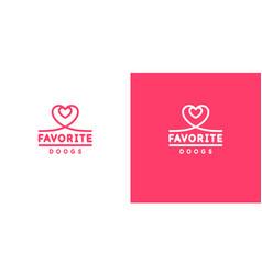 emblem with image heart original vector image