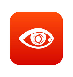eye icon digital red vector image