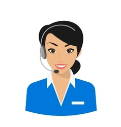 Female call centre operator vector image