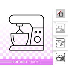 food processor simple black line icon vector image