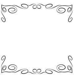frame black 6 1202 vector image