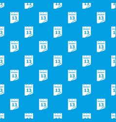 Friday calendar pattern seamless blue vector
