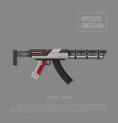 Futuristic machine gun for shooter games vector