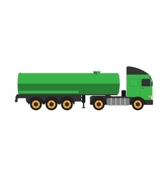 Gas oil truck vector