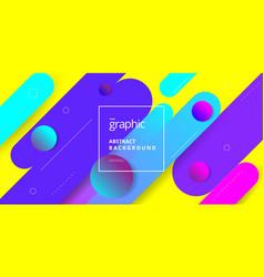 geometric shape composition background design vector image