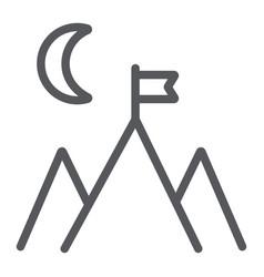 goal achievement line icon motivation and success vector image