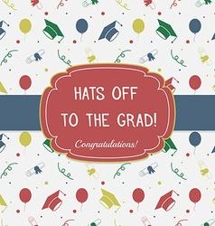 Graduation Celebrating Invitation or Postcard vector image