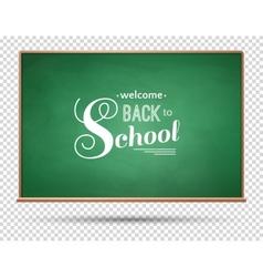 Green chalkboard vector image