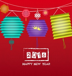 Happy chinese new year 2016 background with vector