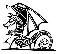 Huggy Dragon vector image