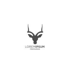ibex horn logo vector image