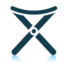 Icon fishing folding chair vector