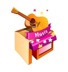 Icon music shop vector