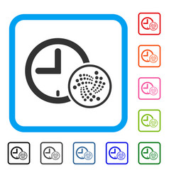 iota time framed icon vector image