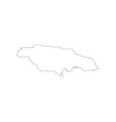 jamaica map outline vector image